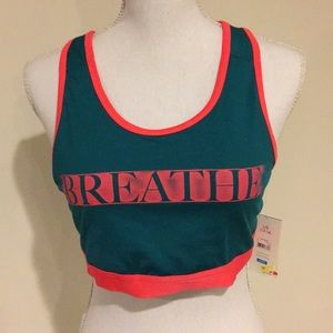 "Danskin Performance Sports Bra ""Breathe"" LG NWT"